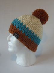 Toque - Cream, Turquoise and Saffron