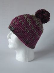 Toque- Beige, Brown and Pink blend