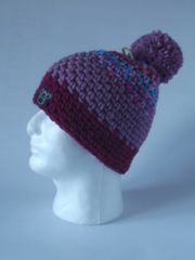 Toque- Bight Blue/Rose mix, Rose and Ruby