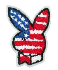 USA Bunny Rabbit Patch Chenille 10cm