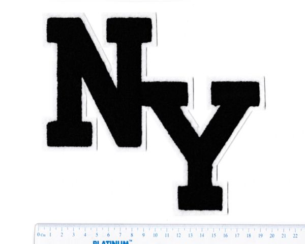 Stylish chenille ny new york patch 20cm applique smart patches