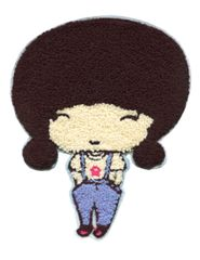 XXL Extra Large 24cm Chenille Cute Girl Patch Badge