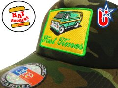 "smARTpatches Truckers ""Fast Times"" Vintage Custom Van Trucker Hat"