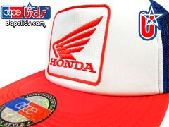 smARTpatches Truckers Honda Hat Trucker (Red, White and Blue)