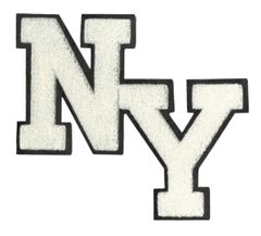 Stylish Chenille NY New York Patch 20cm Applique