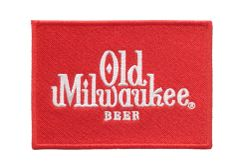 Vintage Style Old Milwaukee Beer Patch 9.5cm x 7cm