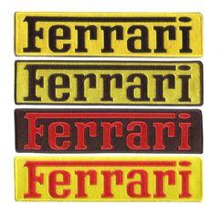 Ferrari XXL Script Patch 25cm x 6cm (4 colors to choose from)