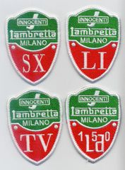 Vintage Style Lambretta Patches SX LI TV LD 7cm (4 models available)