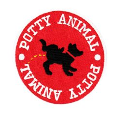 "Vintage Style Party Animal ""Potty Animal"" Morale Patch 8cm Applique"
