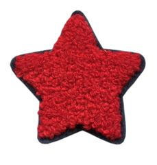 Chenille Red Star Patch (6cm)