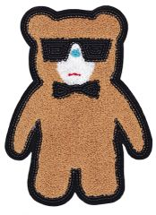 Chenille & Sequins Teddy Bear Patch 26cm