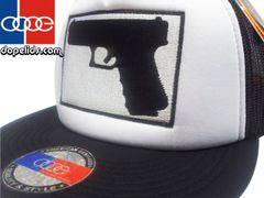 "smartpatches ""Handgun"" Vintage Style Trucker Hat"