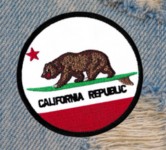 New Style Surfing Surfer California Republic Beach Patch 8cm