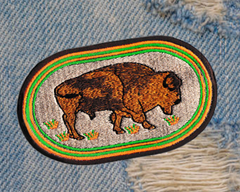 Americana Bison Buffalo Patch 11cm