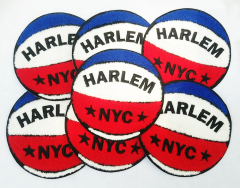Cool Vintage Style Chenille Basketball Patch Harlem NYC 15cm Applique