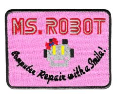 Ms. Robot Patch fsociety Ms. Robot (10cm x 7.6cm) (4 inches x 3 inches)