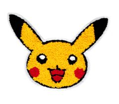 Cute Chenille Pokemon Pikachu Patch 15cm
