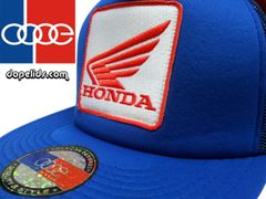 smartpatches Honda Vintage Style Motorcycle Trucker Hat (Solid Royal Blue)