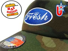 "smARTpatches Truckers ""Fresh"" Trucker Hat Curved Bill DJ Hip Hop (Camo)"