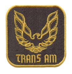 Vintage Style Trans Am Patch 8cm x 8cm 2 Sizes Inside
