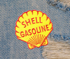 Vintage Style Shell Gasoline Patch 8cm (30cm also available)
