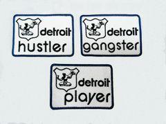 Vintage Style Detroit Patch 8.5cm