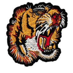Cool Tattoo Style Roaring Tiger Patch Large 10cm