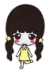 XXL Extra Large 23cm Chenille Cute Girl Patch Badge