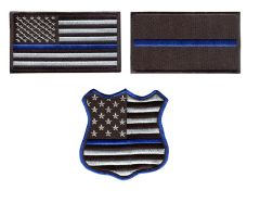 Blue Lives Matter BLM Patch Police Iron-On (3 Styles Available)