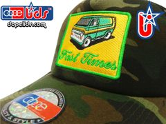smartpatches Truckers Vintage 70's Custom Van Trucker Hat Curved Bill (Camo)