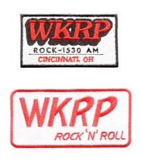 WKRP Vintage Style TV Patch 9cm x 5cm (2 styles available)