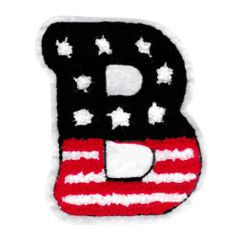 Large Chenille American Letter B Patch 9cm