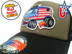 smARTpatches Truckers 70's Hippie USA Van Shaggin Wagon Car Hot Rod Truck Trucker Hat (Black, OD Green)