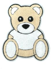 XXL Extra Large Chenille Teddy Bear Patch 23cm