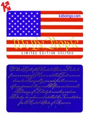 Educational US Constitution Preamble Kaboingo Card Limited Edition/500