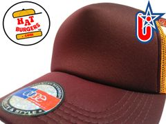 smartpatches Truckers Blank Trucker Hat Curved Bill (Cinnamon & Orange)