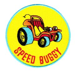 Vintage Style Speed Buggy Beach Surfing Surfer Patch 8cm