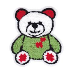 Chenille Teddy Bear Patch (10cm)