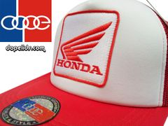 smartpatches Honda Motorcycle Hat (Red and White)