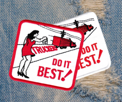 Vintage Style 70's 80's Truckers Do It Best Keep on Truckin Trucker Patch 8cm Applique