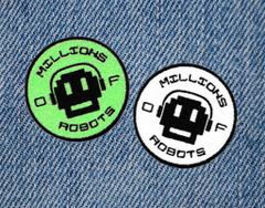 Millions of Robots MOR Skater Skateboarding Patch 7.5cm