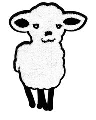 XXL Extra Large Chenille Sheep Lamb Patch 27cm