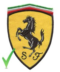 Ferrari XL Patch 16.5cm x 12cm