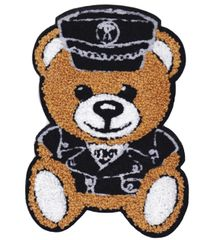 Chenille Teddy Bear Pilot or Police Patch 22cm