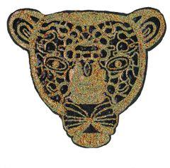 Giant Leopard Head Sequins Patch XXL 29cm