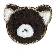 Teddy Bear Patch Chenille 9cm