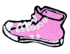 XL Extra Large Chenille Hi Top Pink Shoe Patch 14cm