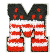 "Large Chenille American USA Letter ""M"" Patch 8.5cm"