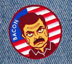 Parks and Recreation Ron Swanson Bacon Patch 9cm