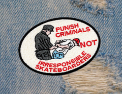 Skateboarding Is Not A Crime Skater Skateboarding Patch 10cm